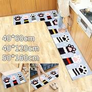 50*160cm Flannel Kitchen Floor Mat Non Slip Runner Anti Fatigue Rug Door carpet