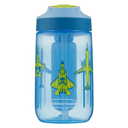 Rubbermaid 12 oz. Leak-Proof Sip Kids Water Bottle with Blue Ice Stick, Jet Planes Graphic](Kids Water Bottles)