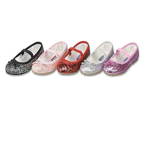 Toddler Girls Pink Glitter Slip On Dress Shoes 9 - Pink Shoes Girls