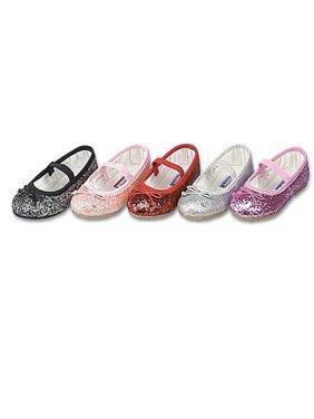 e8f4da80d234 Product Image Toddler Girls Pink Glitter Slip On Dress Shoes 9