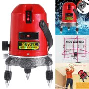 5 Line 6 Point Shockproof Automatic Self Leveling Laser Level Measure 360 Rotary( Not include battery)