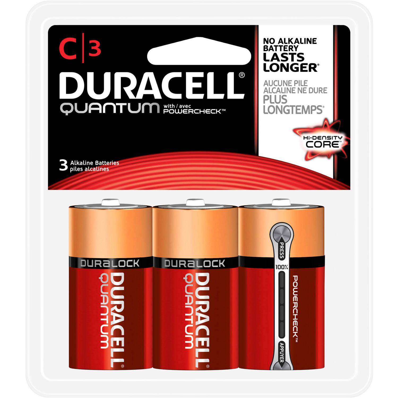 Duracell Quantum Alkaline C Batteries, 3 Count