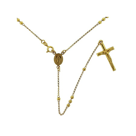 18kt Gold over Sterling Silver Rosary Chain, 20