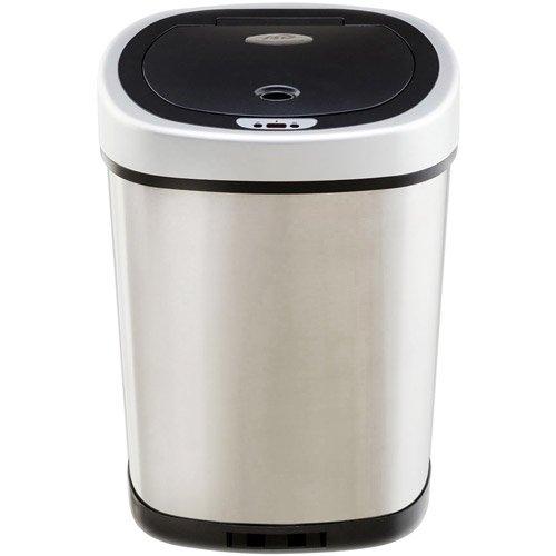 nine stars 132 gallon slim 21 gallon trash can combo set stainless steel walmartcom - Slim Trash Can