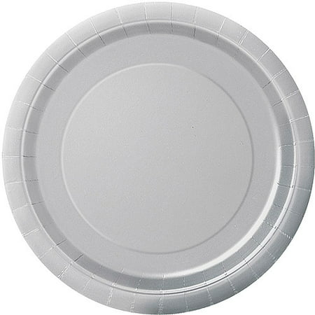 (3 Pack) Paper Plates, 9 in, Silver, 16ct - Silver Papery