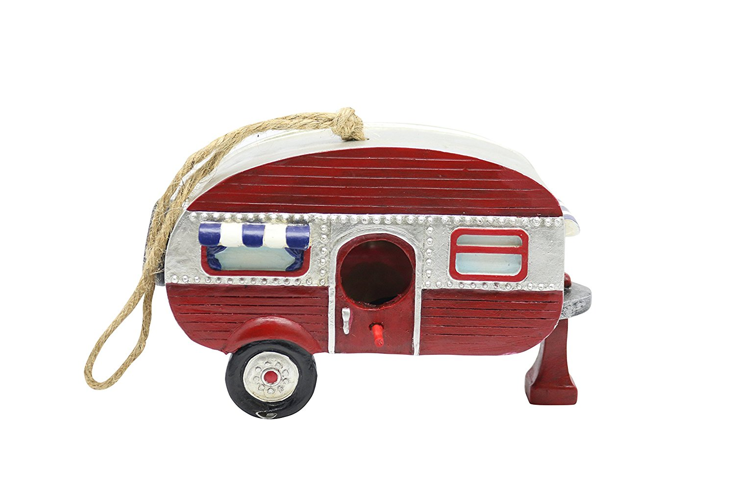 Hanging Red Camper Birdhouse by Alpine Corporation