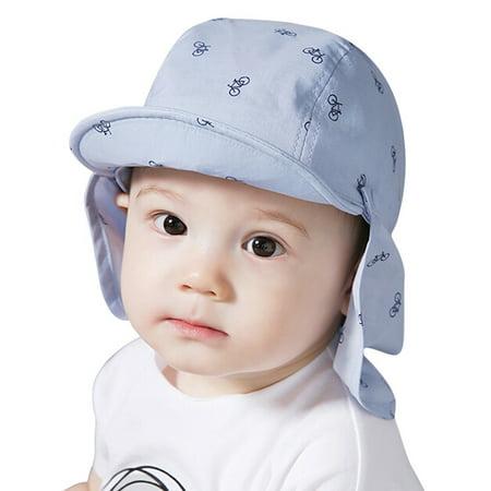 Lavaport Baby Sun Protection Hat Children Sunscreen Print Outdoors Cap+Shawl
