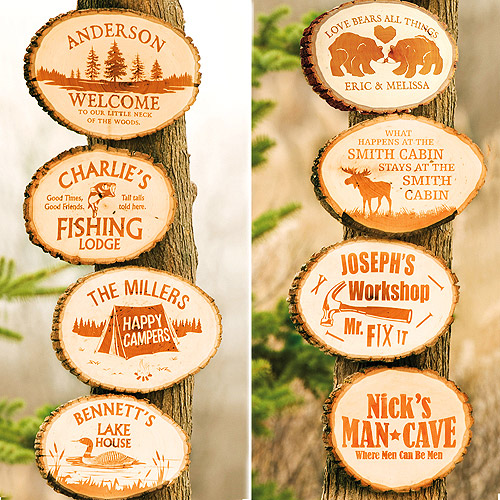 Personalized Love Bears All Things Wood Plaque