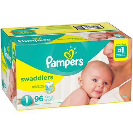 Pampers Swaddlers Newborn Diapers Size 1 96 Count