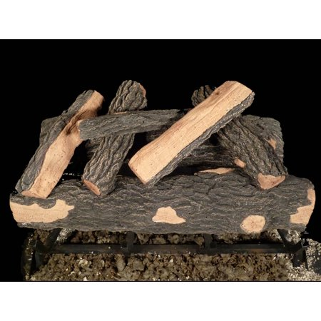 7 Pc Refectory Cement Gas Log Set