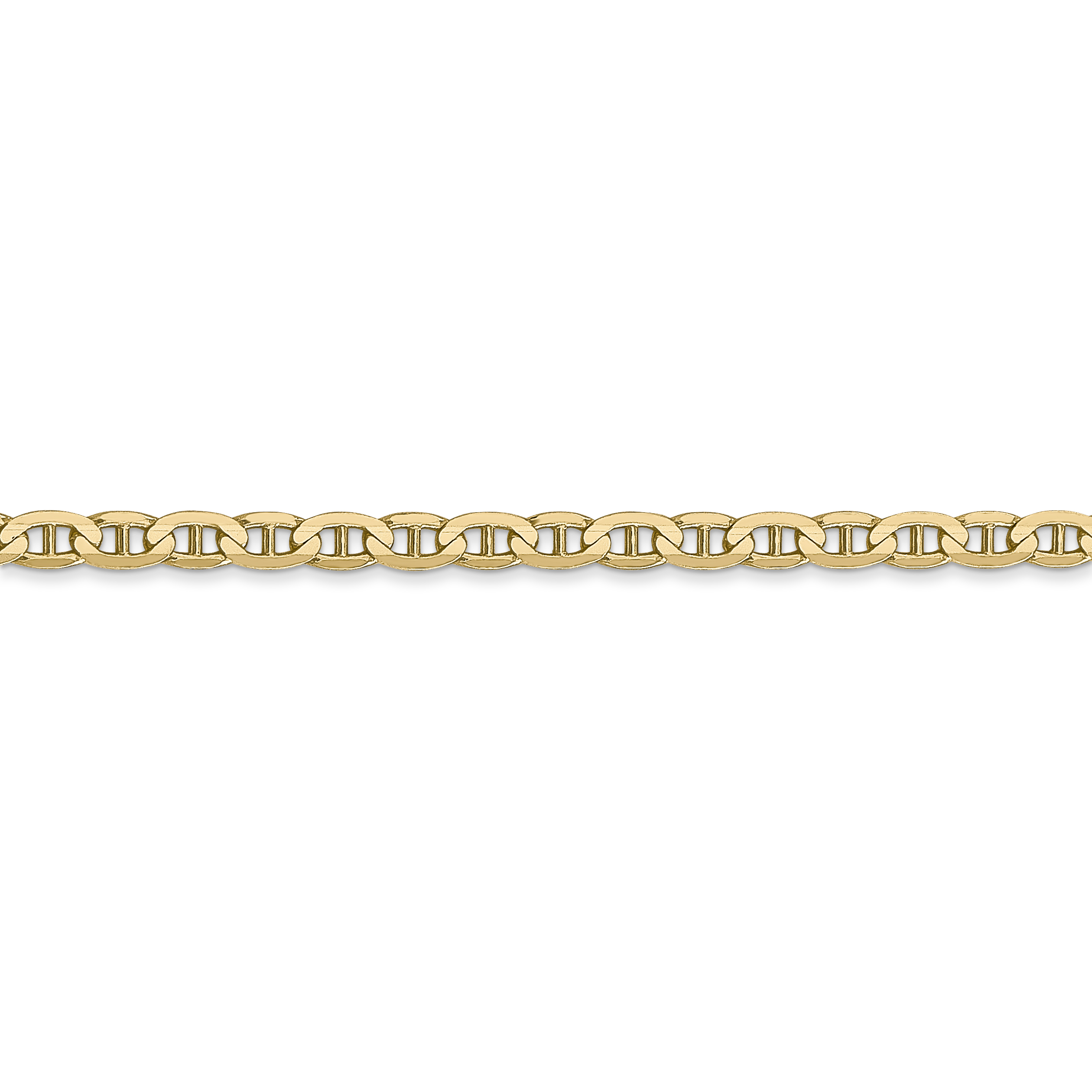10K Yellow Gold 3mm Concave Anchor Chain - image 3 de 5