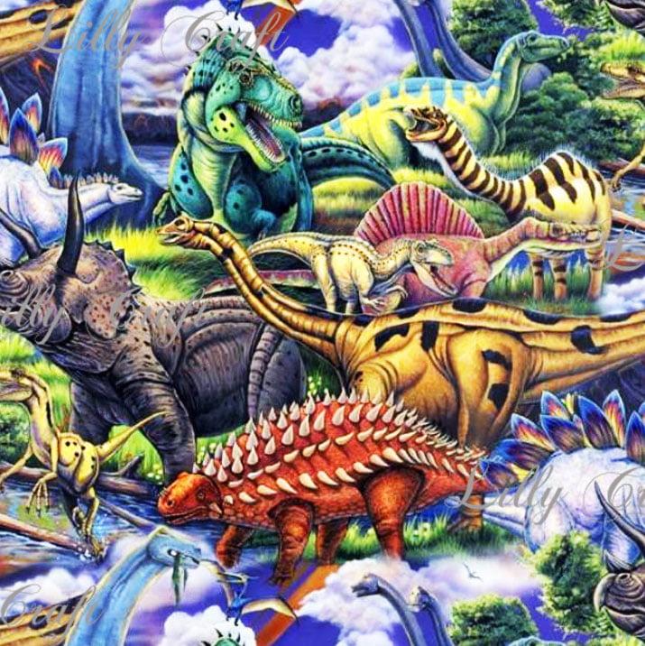 Lilly Craft Dinosaurs Print Fleece Anti-Pill FABRIC 58-60
