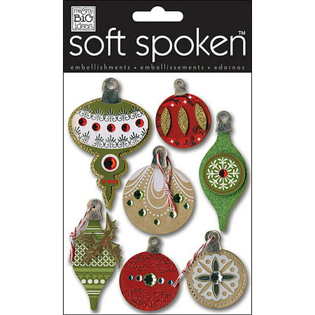 Soft Spoken Banner - Me&my Big Ideas Soft Spoken Embellishments Holiday Ornaments