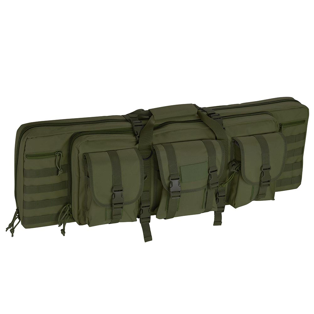 "36"" Tactical Dual Rifle Gun Bag Case Carbine Soft Case Padded Oxford with Backpack Straps Multiple Color"
