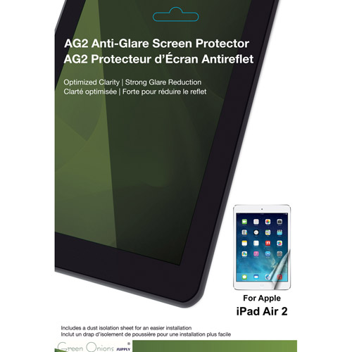 Green Onions Supply AG2 Anti-Glare Screen Protector for Apple iPad Air 2