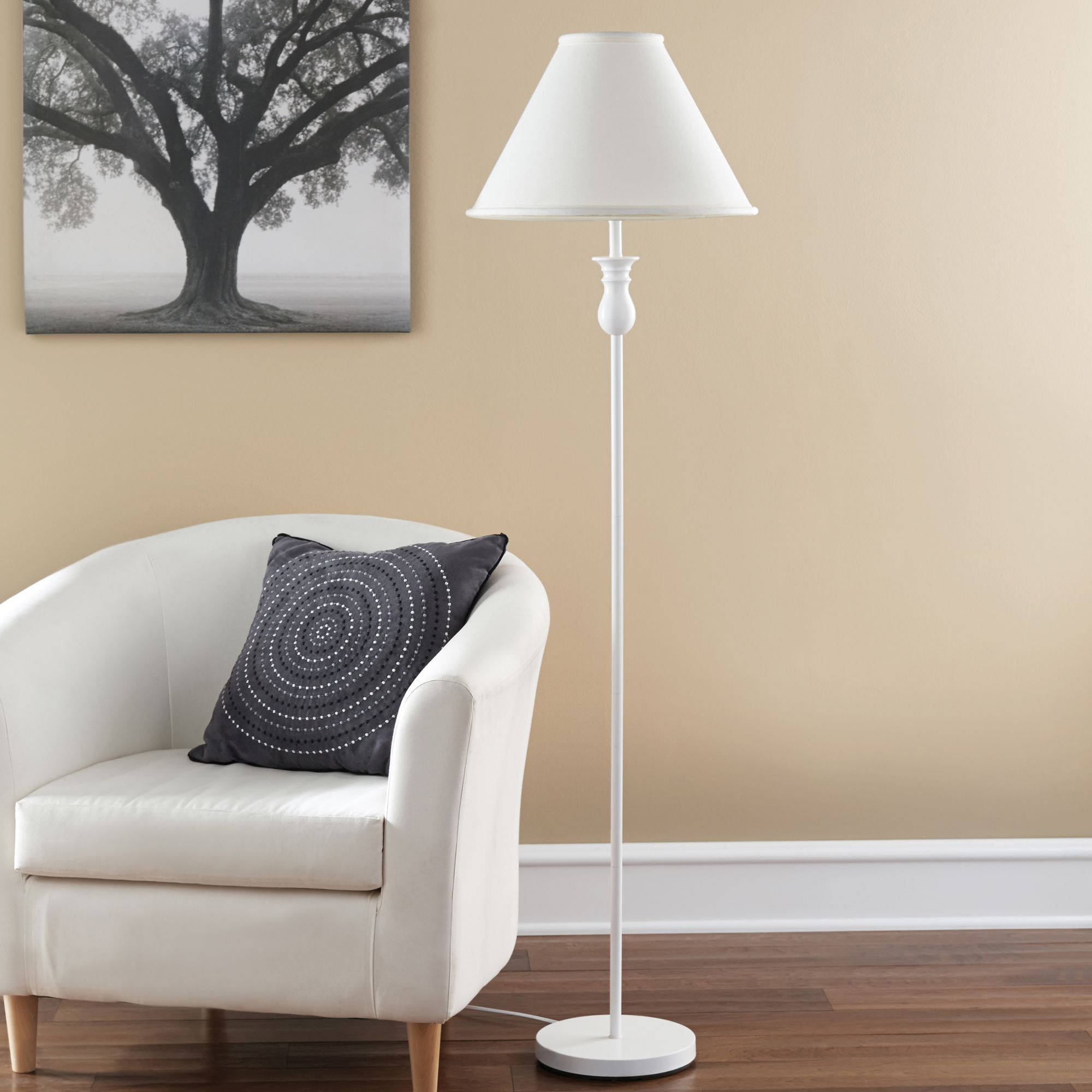 Mainstays 51 floor lamp base white finish walmart audiocablefo