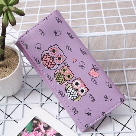 Owl Coin (Tuscom Women Simple Retro Owl Printing Long Wallet Coin Purse Card Holders Handbag )