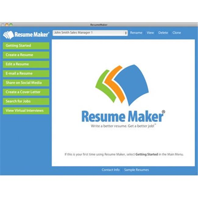 Resume Maker For Mac (Email Delivery)