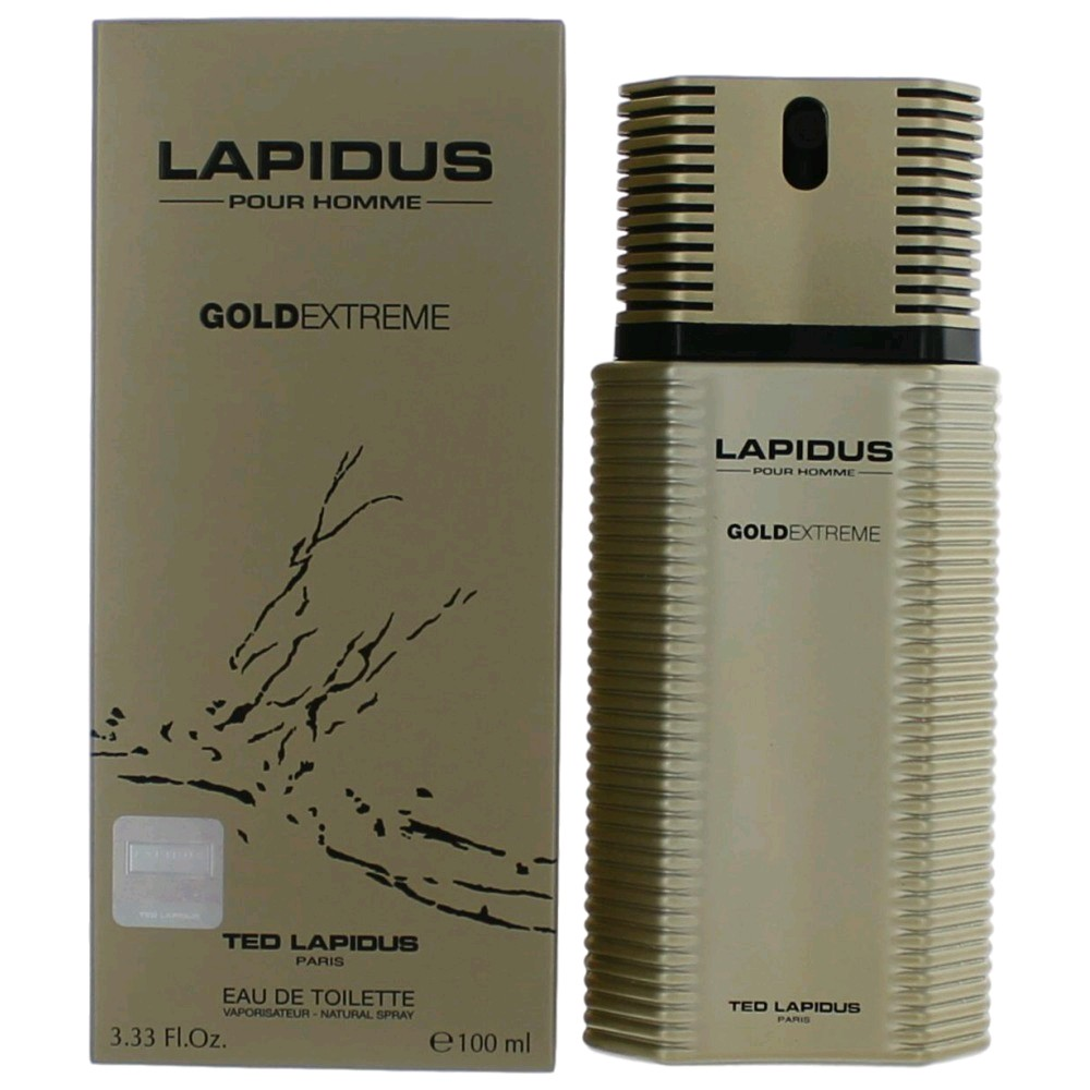 Lapidus Gold Extreme Cologne by Ted Lapidus, 3.3 oz EDT Spray for Men