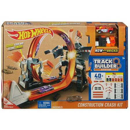 Hot Wheels Track Builder Construction Crash Kit (Language Construction Kit)