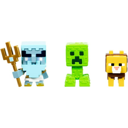 Minecraft Build-A-Mini 3-Pack Poseidon, Greek Creeper, & Ocelot Chimera](Minecraft Creeper Toy)