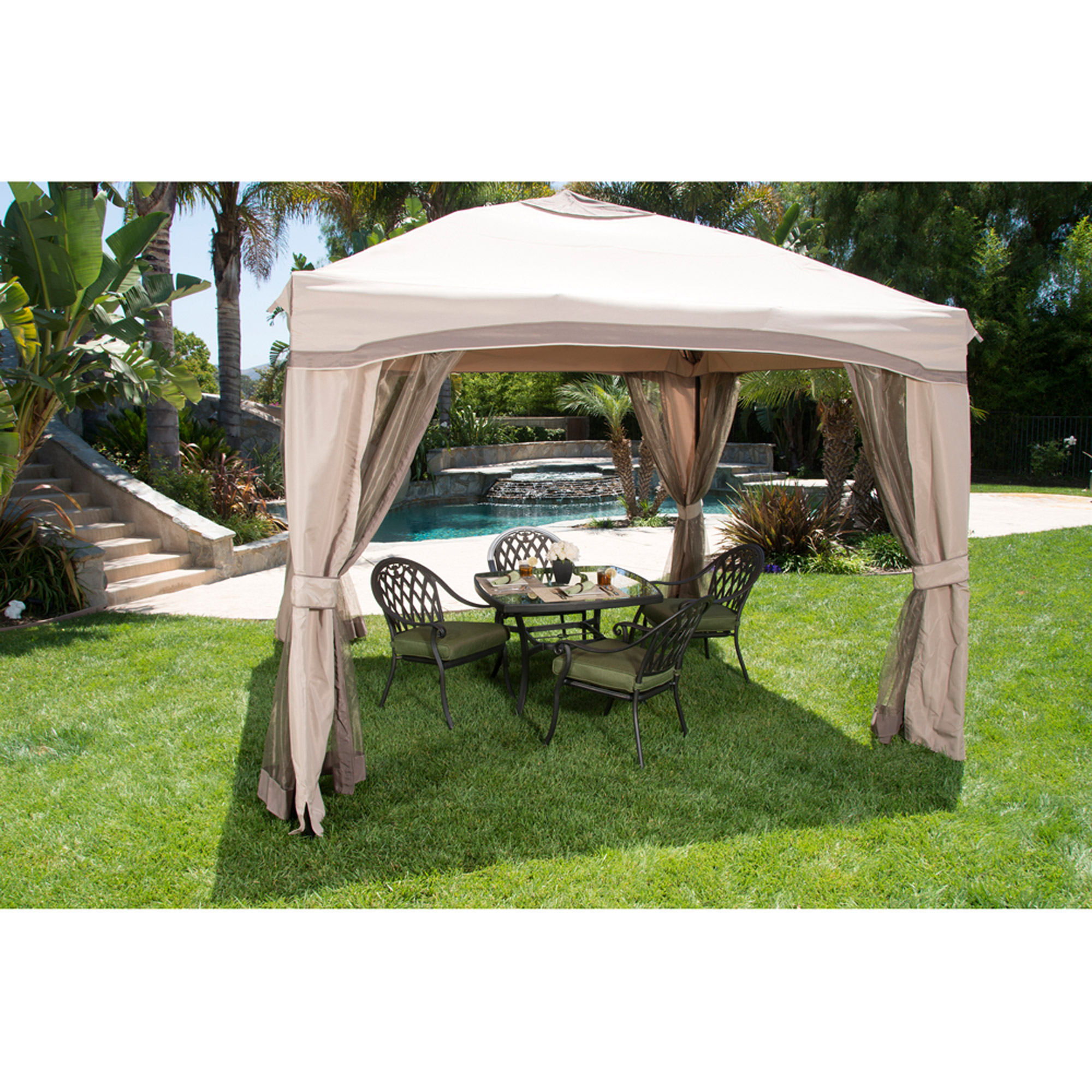 portable patio gazebo with single roof amp netting 10 x 10
