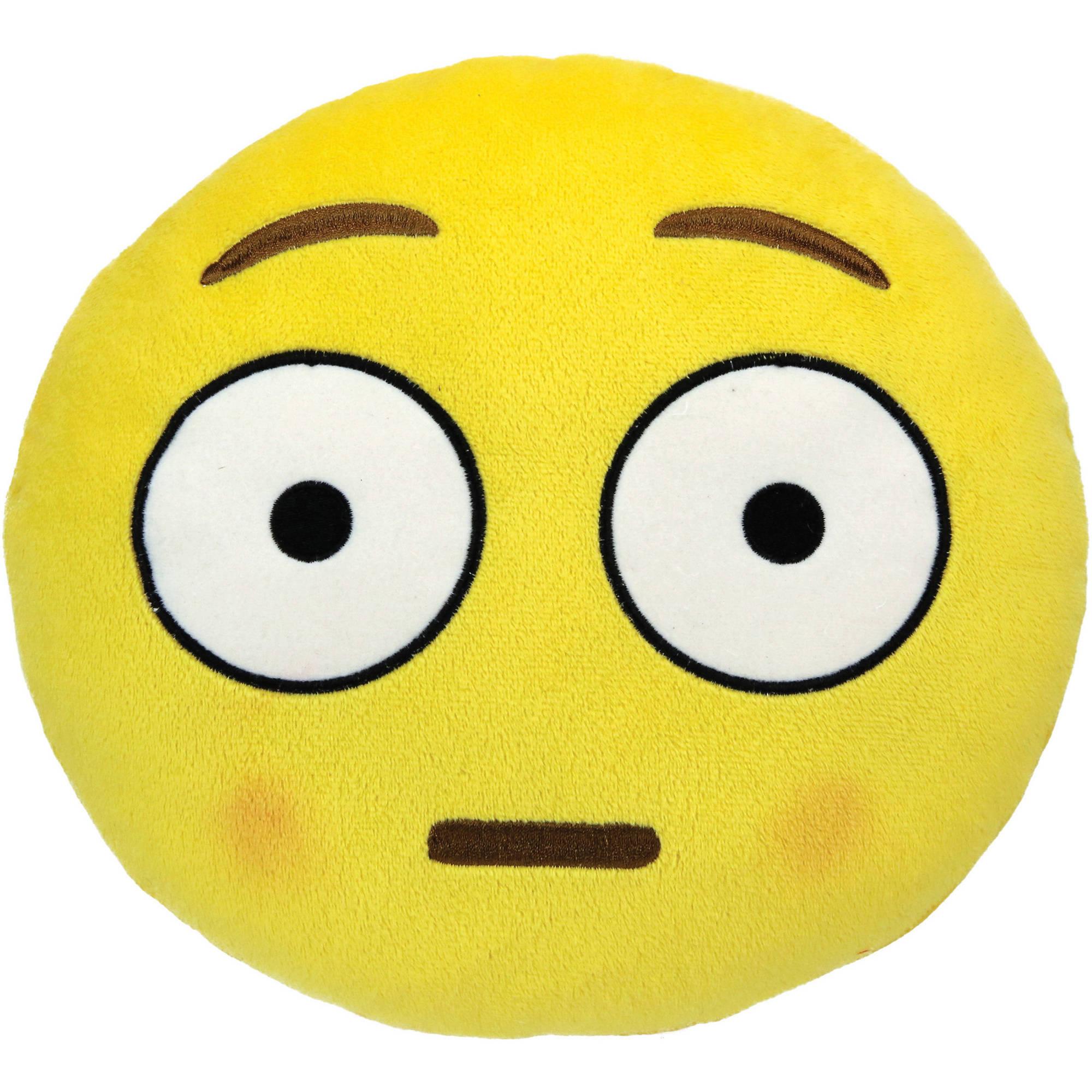 Emoji Small Pillow, Blushed Face