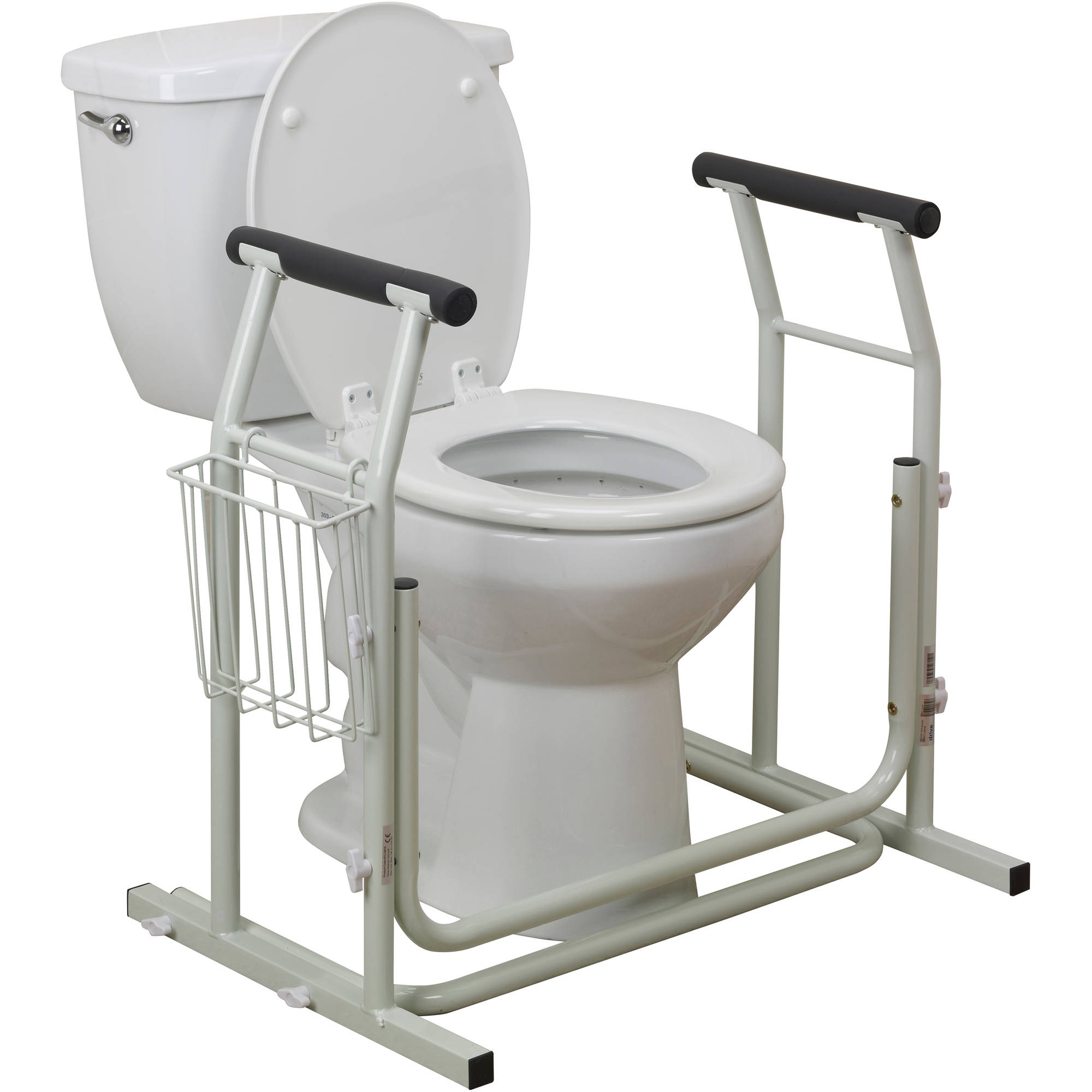 drive medical stand alone toilet safety rail walmartcom