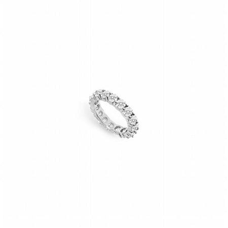 3 CT Diamond Eternity Band 14K White Gold Third & Fourth Wedding Anniversary Ring - Size 4