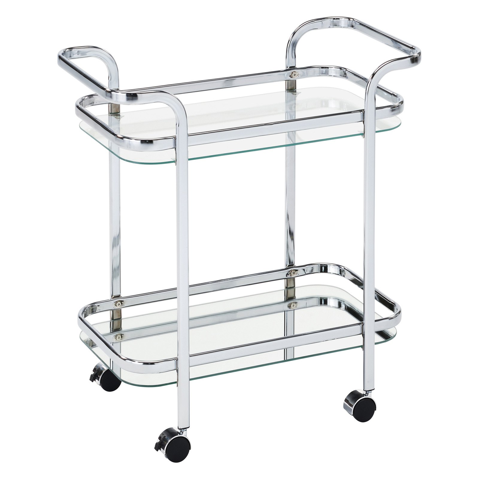 2 Tier Chrome/Glass Bar Cart