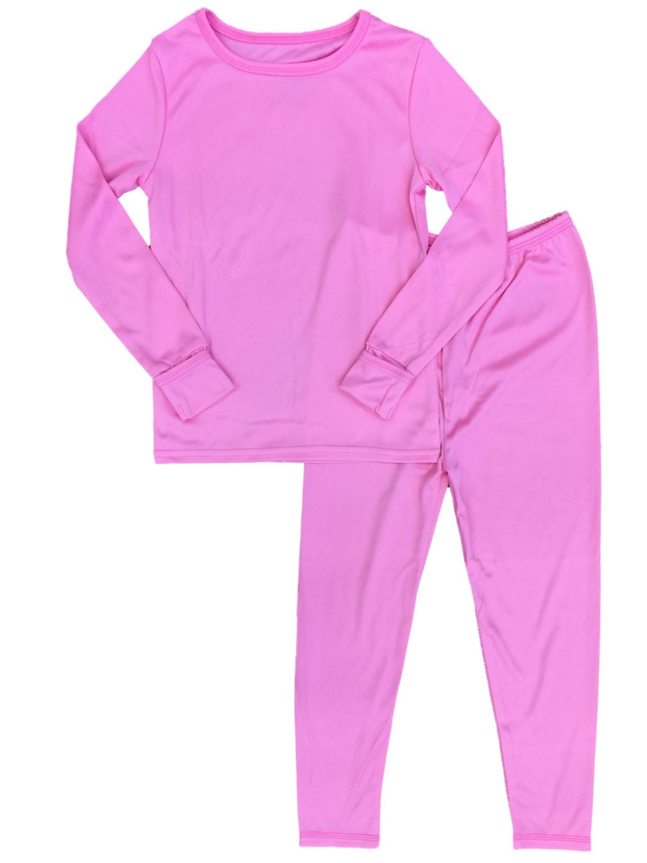 Cuddl Duds Toddler Girls Bright Pink Thermal Underwear Long Johns Base Layer Set