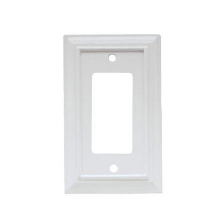 Brainerd Mfg Co/Liberty Hdw W10768-W-U Decorator Rocker/GFI Wall Plate, 1-Gang, Wood Architectural, White MDF Material