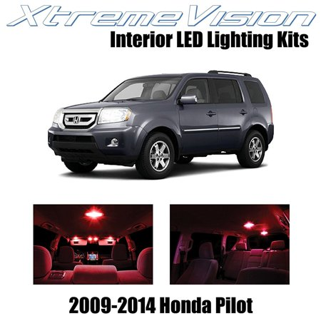 Red Interior Led Package (XtremeVision LED for Honda Pilot 2009-2014 (16 Pieces) Red Premium Interior LED Kit Package + Installation Tool )