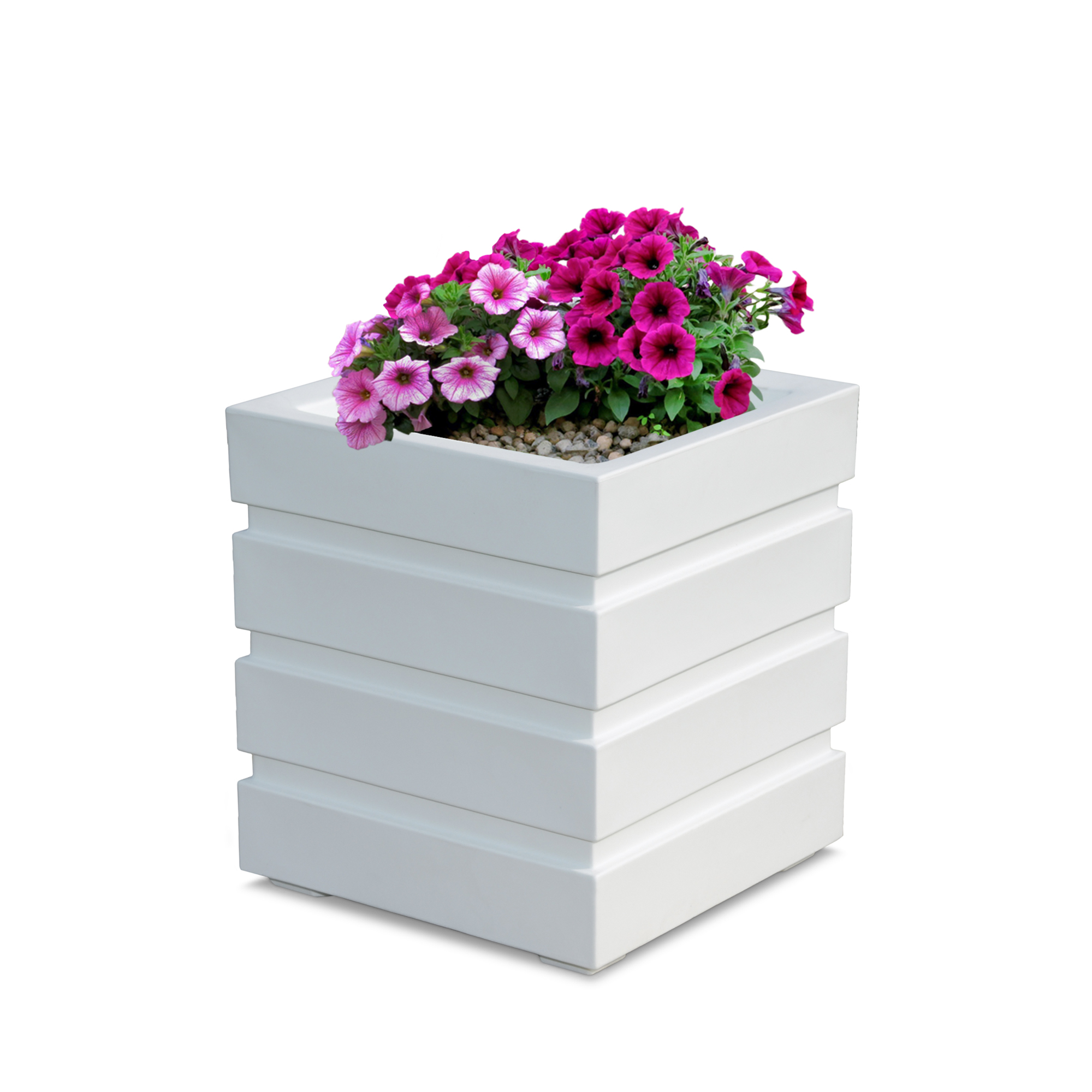 Freeport Patio Planter 18x18 - White