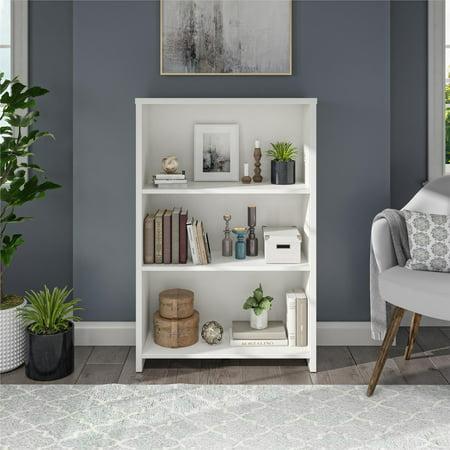 Mainstays Heritage 3 Shelf Bookcase, White - Walmart.com