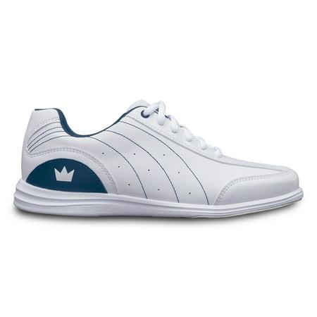 Brunswick Ladies Mystic Bowling Shoes- WideWhite/Navy 09 1/2