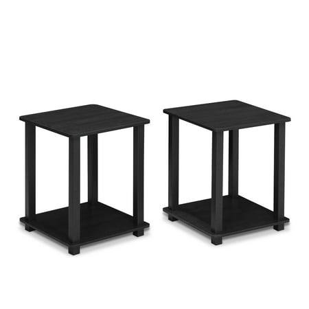 Furinno 12127 Simplistic End Table, Set of Two, - Pecan Set Table