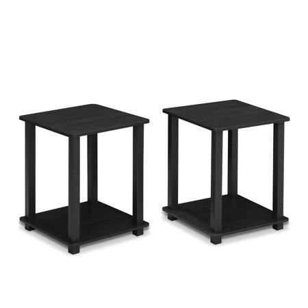 Furinno 12127 Simplistic End Table, Set of Two, Americano/Black - End Table Covers