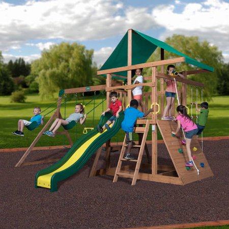 Backyard Discovery Mt McKinley Wooden Swing Set