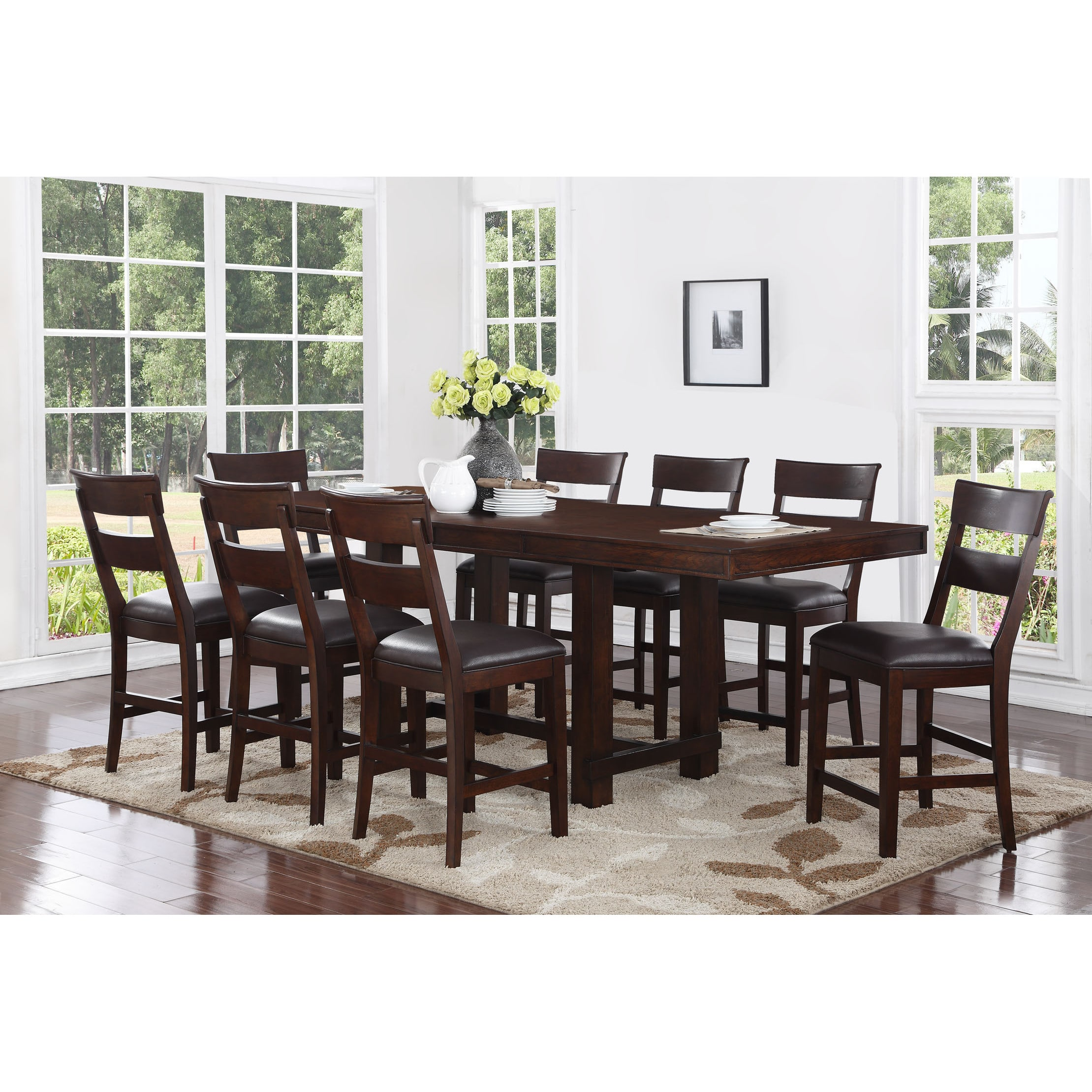 Craft and Main Alden 9 Piece Counter Height Dining Table Set  sc 1 st  Walmart & Craft and Main Alden 9 Piece Counter Height Dining Table Set ...