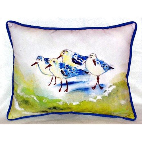 Betsy Drake Interiors Sanderlings 24'' Indoor/Outdoor Lumbar Pillow