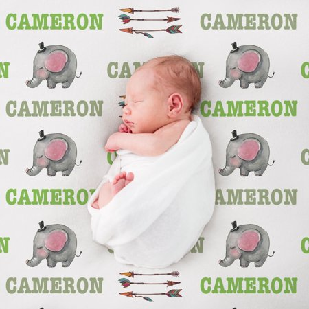 Custom Baby Blankets (Custom Elephant Baby Blanket)