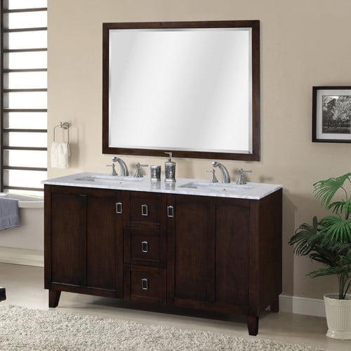InFurniture IN 32 Series 60'' Double Sink Bathroom Vanity Set