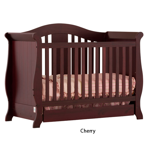 Storkcraft - Vittoria Fixed Side Convertible Crib, Cherry