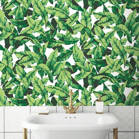 RoomMates Palm Leaf Peel & Stick Wallpaper - Nightmare Before Christmas Halloween Wallpaper