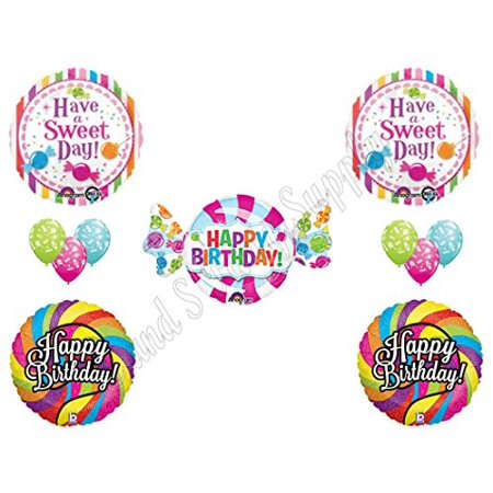 SWEET SHOP CANDY CRUSH 16th Happy Birthday PARTY Balloons Decorations Supplies Candyland - Happy 16th Birthday Balloons