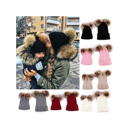 Girl12Queen Newborn Baby Boy Girl Mom Mother Winter Warm Pom Pom Bobble Beanie Hat Xmas Gift](Baby Turkey Hat)