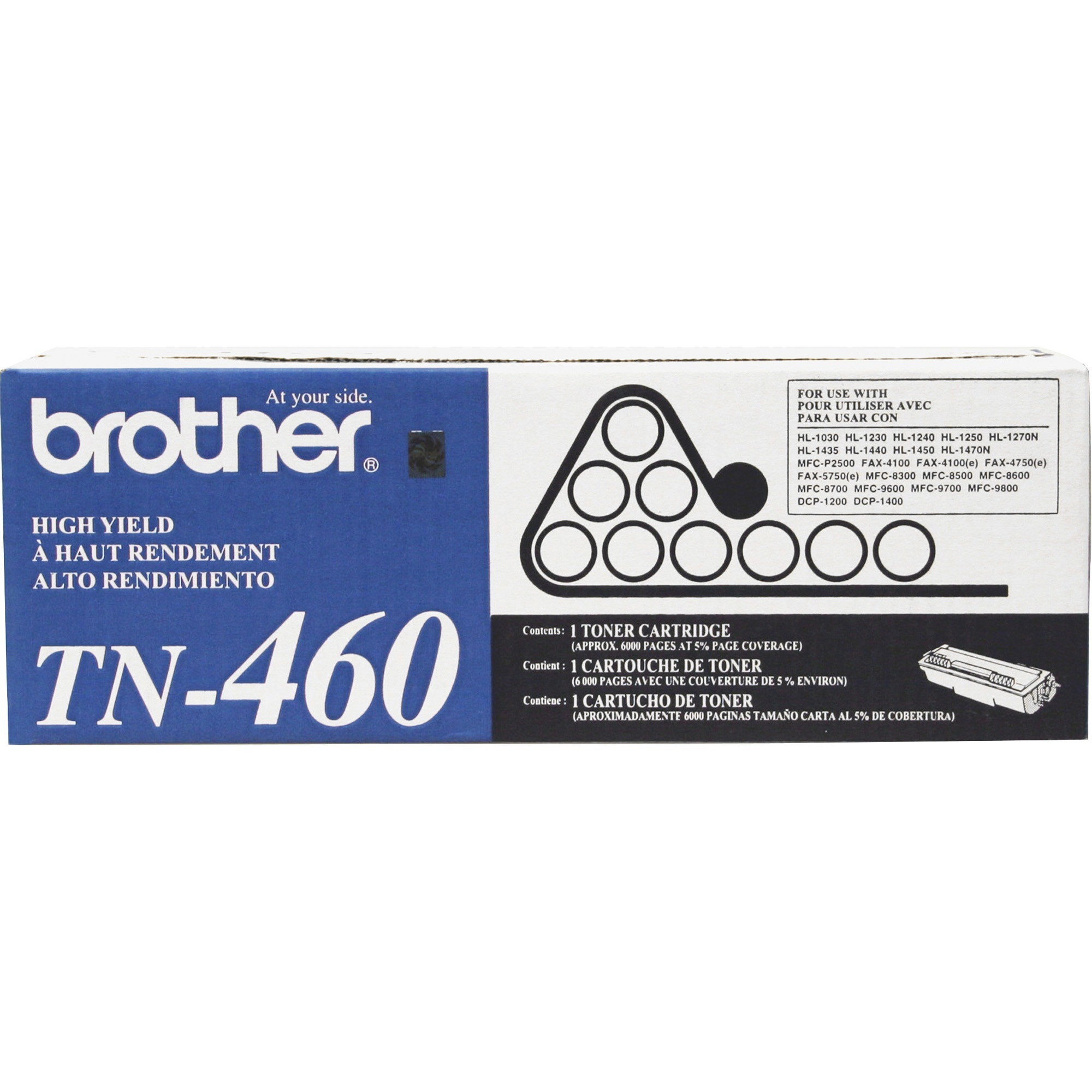 Brother TN460 High-Yield Toner, Black