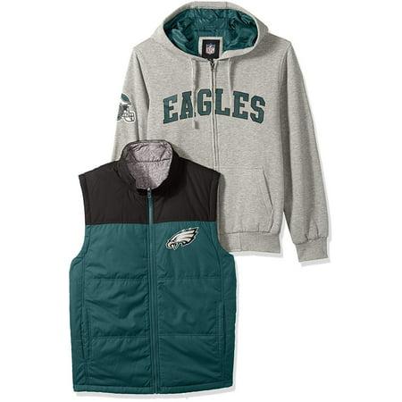 Philadelphia Eagles 5-in-1 Reversible Vest Fleece Full Zip Jacket for $<!---->