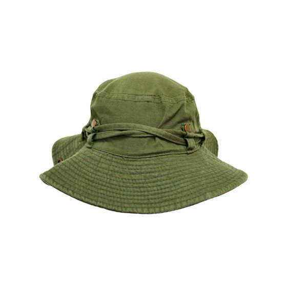 c3dc8fd0e Safari Style Cotton Hat With Chin Cord & Side Snaps